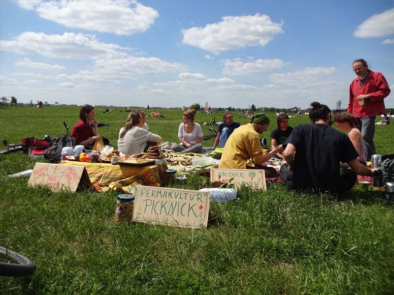 Sonne, Permakultur-Austausch und Picknick
