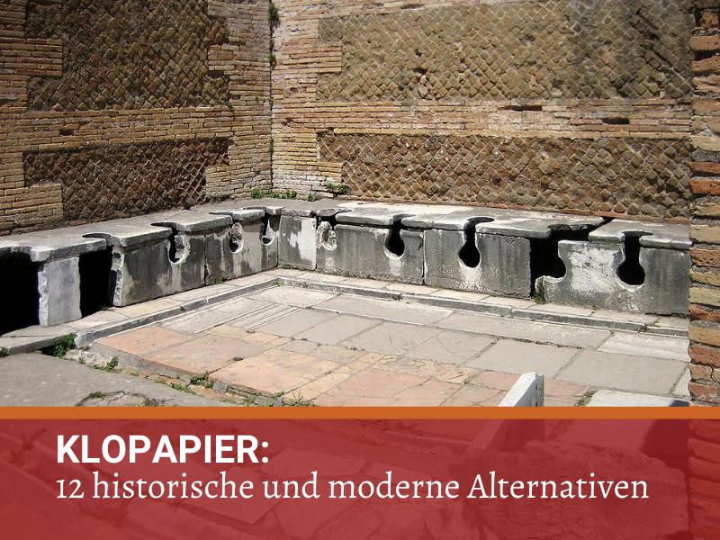 Hier hat man damals beim Geschäftemachen nebeneinander gesessen: Antike Latrine in Ostia (Creative Commons: BY-SA AlMare)